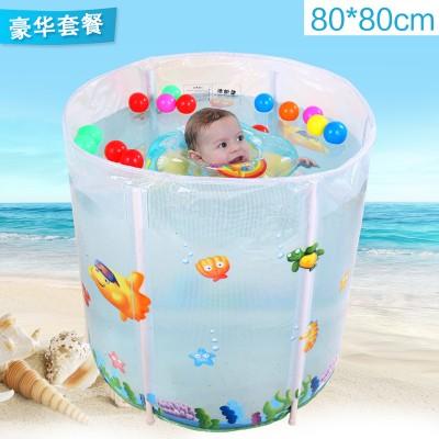 蔓葆婴儿游泳池婴幼儿童支架游泳池大号加厚宝宝充气游泳池桶