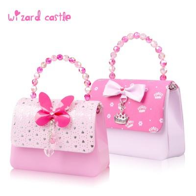 精灵城堡儿童包包公主斜挎包儿童生日礼物小女孩包包时尚女童包包