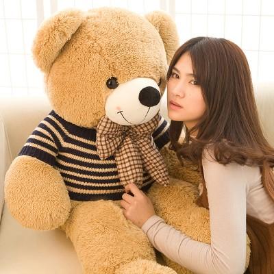 高端正版毛绒玩具泰迪熊公仔女生礼物毛衣抱抱熊大号玩偶布娃娃