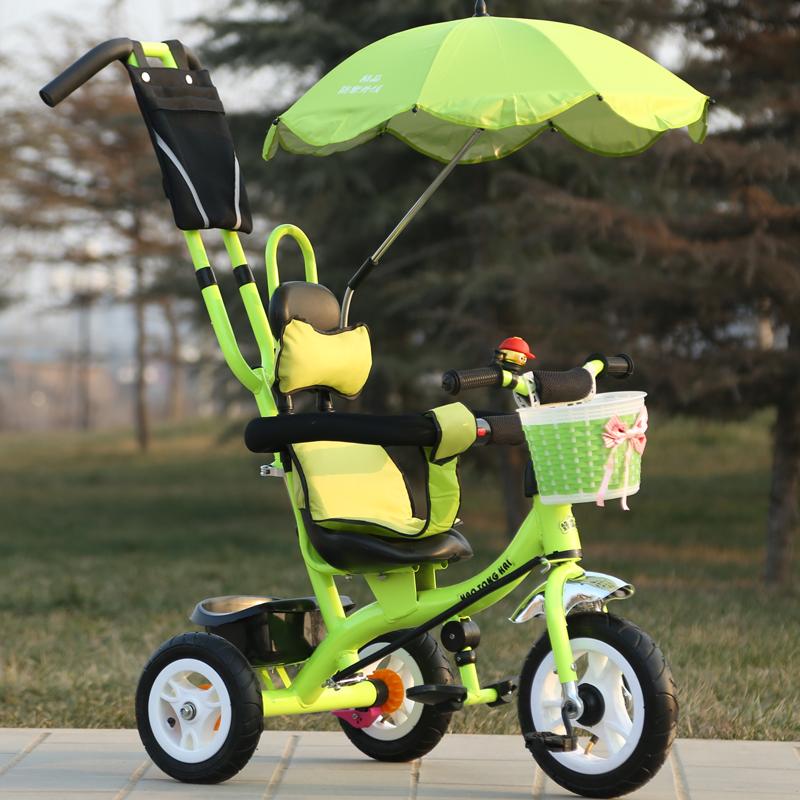 儿童三轮车婴幼儿童手推脚踏车童车玩具1-3岁男女宝宝小孩自行车