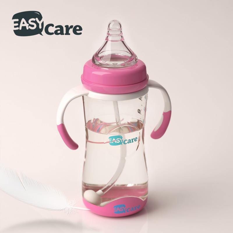 伊斯卡尔 防摔感温塑料奶瓶ppsu宽口径防胀气新生儿宝宝婴儿奶瓶