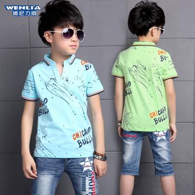 4儿童装5男童夏装套装2016新款7夏天8短袖9-10小男孩11衣服12岁