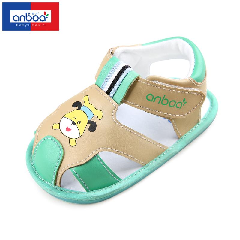 安宝儿 婴儿学步鞋 儿童凉鞋 男女童鞋 宝宝鞋子 软底防滑 夏季