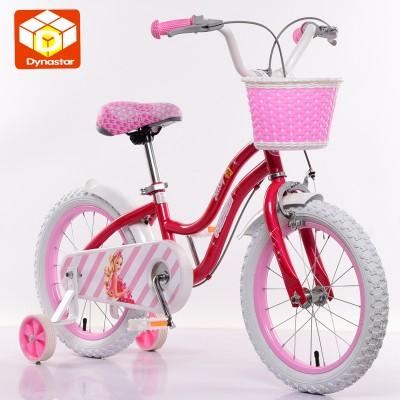 迪纳儿童自行车女孩童车3岁6岁121416寸宝宝小孩脚踏公主款单车