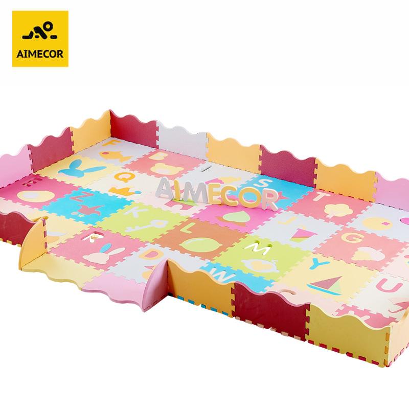 宝宝爬行垫拼接加厚婴儿爬爬垫卡通拼图游戏垫围栏儿童泡沫地垫